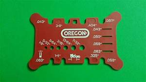 Chainsaw File Chart Oregon Saw Chain File Measuring Tool Pitch Gauge For All