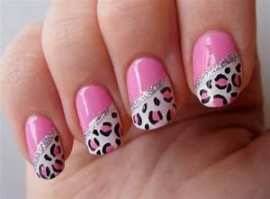 Pink cheetah print nails designs ideas ( 20 + photos )