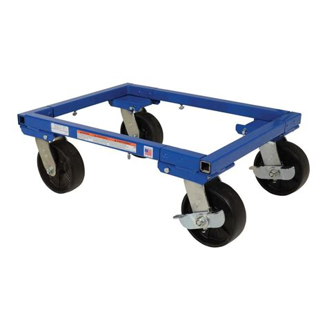 Vestil 16 in. x 22 in. Adjustable Tote Dolly with Casters