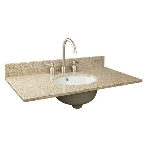 vanity with top and sink 37 quot x 19 quot narrow depth granite vanity top for undermount