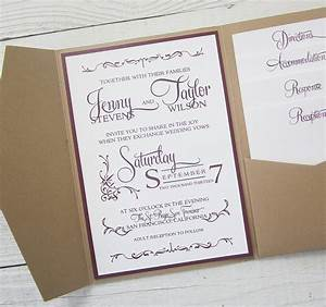 elegant wedding invitations canada pocket wedding With elegant wedding invitations with pockets