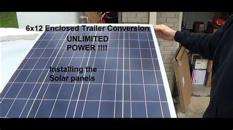 enclosed trailer r door conversion 6x12 enclosed trailer conversion installing solar panel