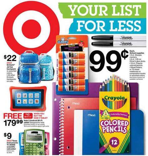 target school supplies deals