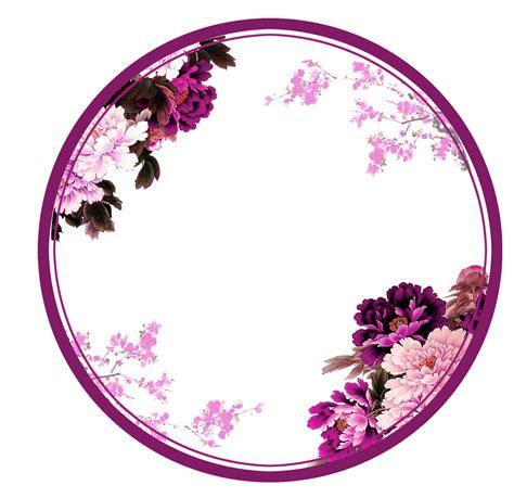 circle purple rounds yuvarlak frame frames border