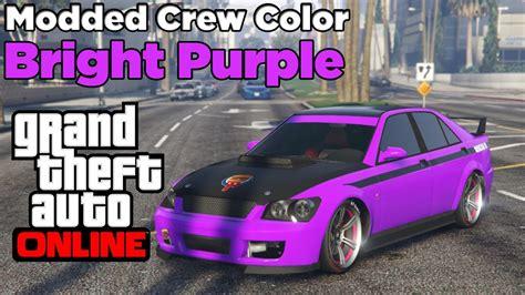 gta    modded crew color bright purple  youtube