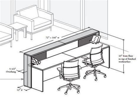 average reception desk height reception desk dimensions pinterest receptions