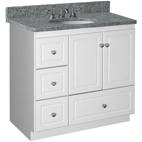 36 white vanity cabinet simplicity by strasser ultraline 36 in w x 21 in d x 34