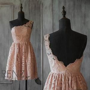 2015 Blush Lace Bridesmaid Dress, Peach Wedding Dress ...