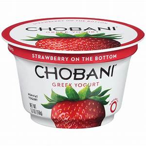 Chobani Yogurt, Greek, Non-Fat, Strawberry 6 oz (170 g)
