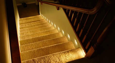 lights for stairs how to install motion sensor led stair lights best led