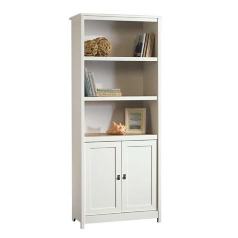Sauder Bookcase White by Sauder Cottage Road 3 Shelf Bookcase In Soft White