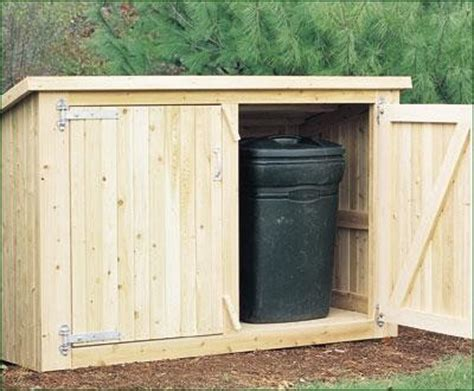 outdoor trash shed wood shed plans  planning tips