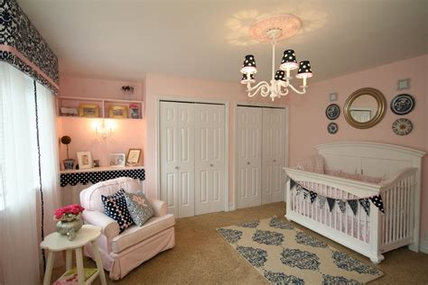 Nursery Room : Pink And Navy Nursery-design Dazzle