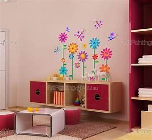 Wandtattoo Kinderzimmer Schmetterlinge : wandtattoo wandsticker kinderzimmer blumen schmetterlinge kit 1009de ~ Sanjose-hotels-ca.com Haus und Dekorationen