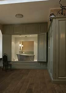 Sol Bois Salle De Bain : mobilier table sol salle de bain sur plancher bois ~ Premium-room.com Idées de Décoration