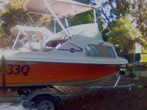 Boat Trailer Registration Qld Cost by 1987 Cox Motor Sailer Petrol Boat Mono Hull Half Cabin