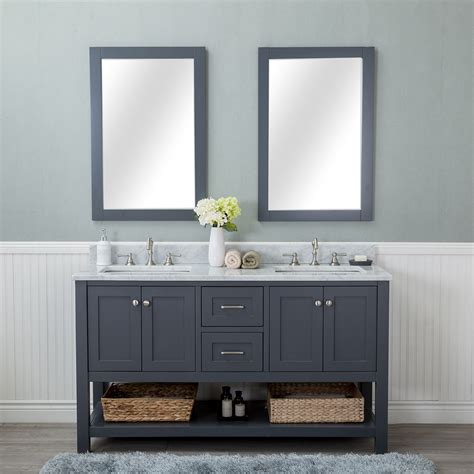 alya bath wilmington   double bathroom vanity  gray