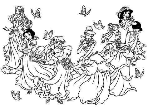 all princesses disney return to childhood adult coloring