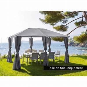 Toile De Jardin : toile de toit pour la tonnelle santorini 3 x 4 m ardoise achat vente tonnelle barnum toile ~ Teatrodelosmanantiales.com Idées de Décoration