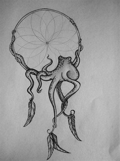 the coolest dreamcatcher ever | Tattoos, Octopus tattoos