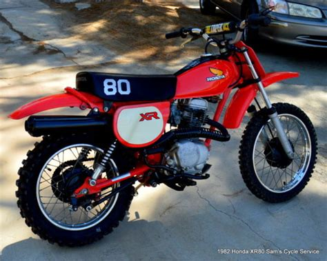 1982 Honda Xr80 Xr 80 Dirt Bike Off Road