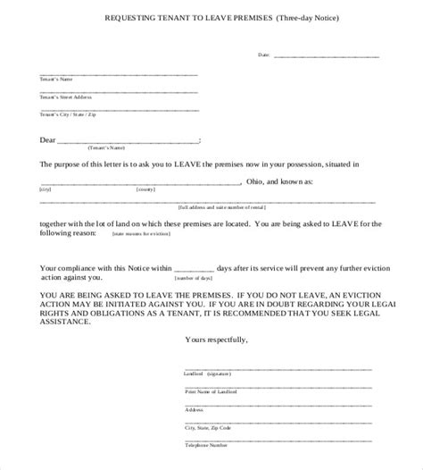 Trespass Notice Template Ontario by 37 Eviction Notice Templates Doc Pdf Free Premium