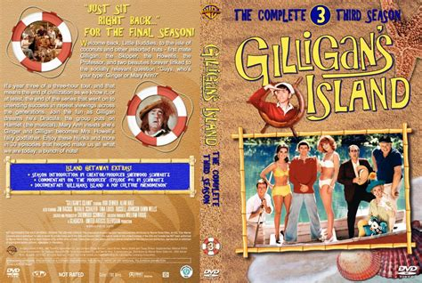 Gilligans Island Season 3 Dvd Cover And Labels 1967 R1