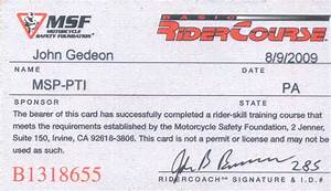 26+ [ Motorcycle Safety Course Ephrata Pa ] - Certificates