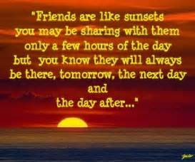 Sun Sets and Quotes About Friends