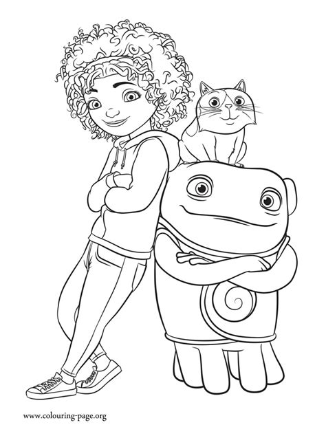 Home Tip Pig and Oh coloring page