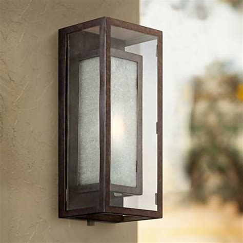 possini box bronze 15 1 2 quot h outdoor wall light