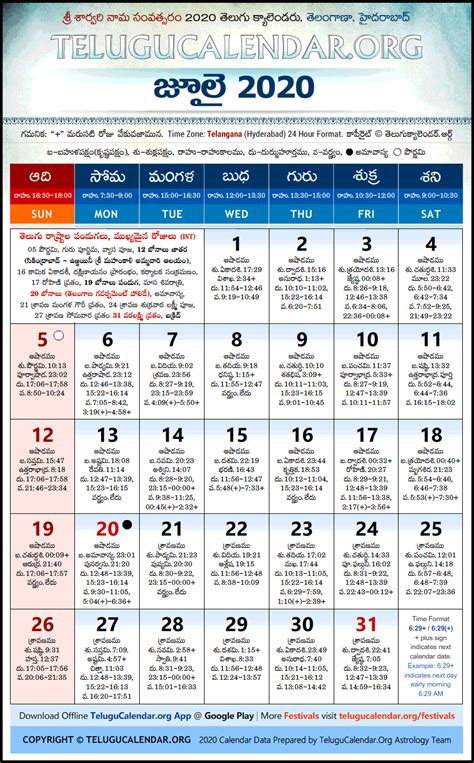 telangana telugu calendars  july festivals