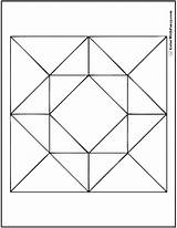 Coloring Geometric Pages Patterns Barn Quilt Square Pattern Diamond Customize Squares Designs Colorwithfuzzy Glass Colouring Stained Block Geometry Quilting Adults sketch template