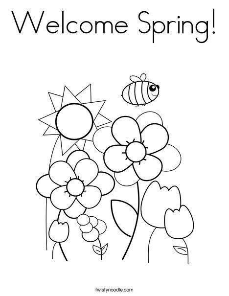 welcome coloring page springtime preschool 210 | e6a15c74fcb079ad8c589dac3476a6e8