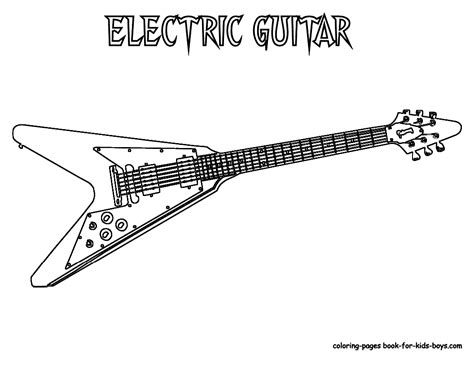 gritty guitar coloring  electric guitar