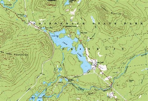 adirondack waterfront information topographic maps