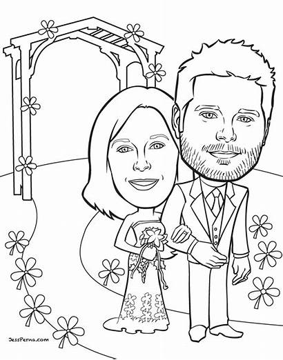 Coloring Anniversary Pages Shower Bridal Cartoon Gifts