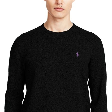 ralph polo sweaters polo ralph cotton crewneck sweater in black for