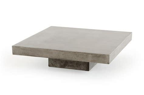 concrete top end table benciveni concrete top coffee table concrete square