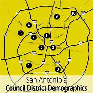 Population And Income Levels Per San Antonio City Council
