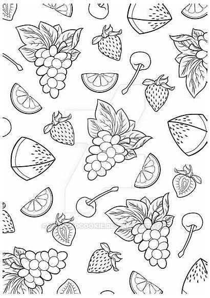 Fruit Colouring Coloring Burst Adult Deviantart Books