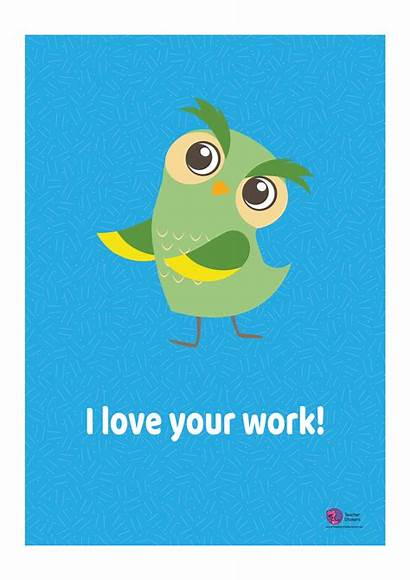 Owl Poster Editable Stickers Teacher Pdf