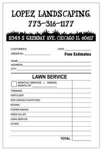 landscaping invoice template invoice exle