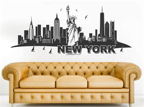 wandtattoo new york wandtattoo skyline new york mit freiheitstatue wandtattoos de