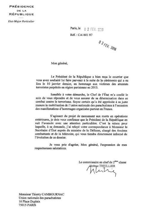 modele lettre au president de la republique - Modele De Lettre Pour Le President De La Republique Gratuit