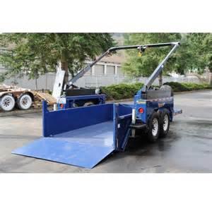 utility trailer drop deck dump crane lift 74 x125