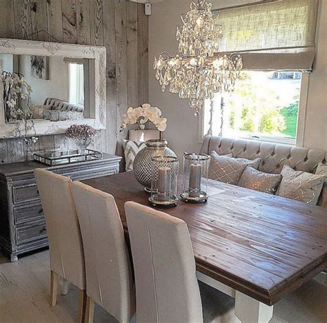 rustic glam dining space home decor