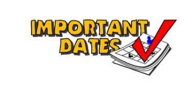 Image result for important dates