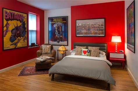 Teenage Super Hero Bed Room  Contemporary  Kids New