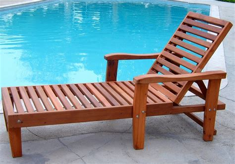 100% Solidwood Pool Lounger Made From Redwood